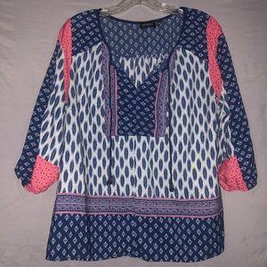 Tempted three quarter length sleeve blouse